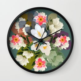 Flower & the Glory Wall Clock