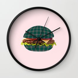 Hamburger-tartan Wall Clock