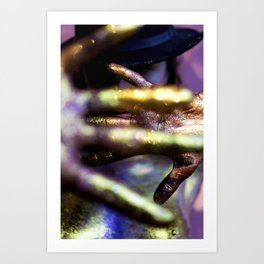 Bookeh Hands Art Print