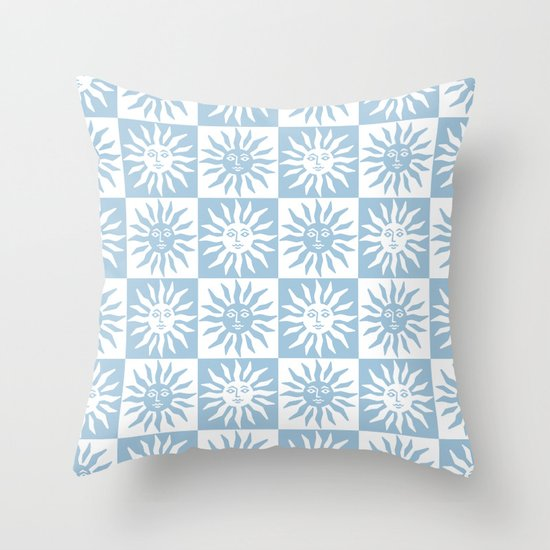 Mid Century Modern Sun Pattern Pale Blue by tonymagner