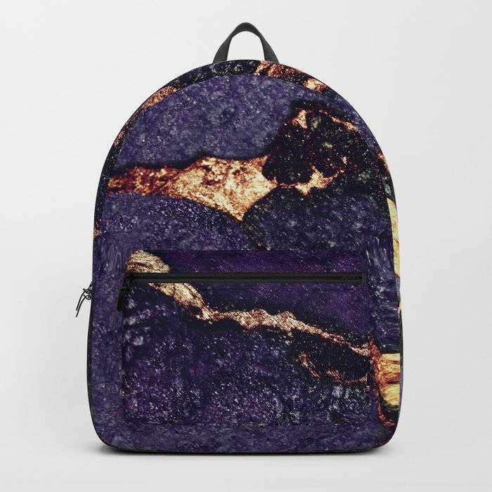 PURPLE & GOLD GEMSTONE Backpack