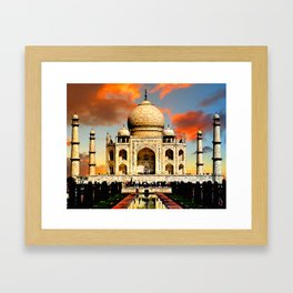 Taj Mahal Dawn Framed Art Print