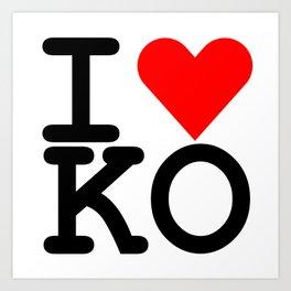 I Heart KO Art Print