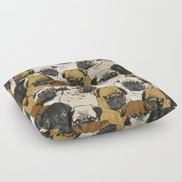 Social Pugs Floor Pillow