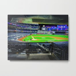 The Bronx is Burning - Yankee Stadium Metal Print