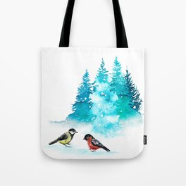 The Heart Of Winter Tote Bag