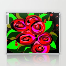 A Bouquet or Roses with a Black Background Laptop & iPad Skin