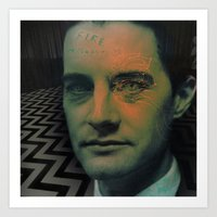 dale cooper Art Prints featuring Special Agent Dale Cooper by András Récze