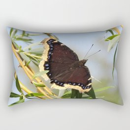 Mourning Cloak Butterfly Sunning Rectangular Pillow
