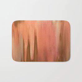 Blush with Gold Abstract Bath Mat