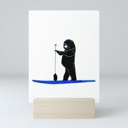 Gorilla Paddles on the Ocean - West Coast Paddle Boarding Mini Art Print