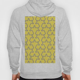 Tessellation Pattern 15 Abstract Stars Pantone 2021 Color Of The Year Illuminating Ultimate Gray Hoody