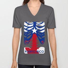 PUERTO RICO X-RAYS BLK Unisex V-Neck