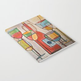 Abstract Modern Wine Art / Wine Tasting Notebook