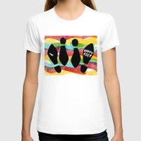 feet T-shirts featuring Happy Feet by Derek Eads