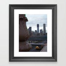 Brooklyn Bridge, New York City, Structural Architecture, Manhattan, NYC, Skyline Framed Art Print