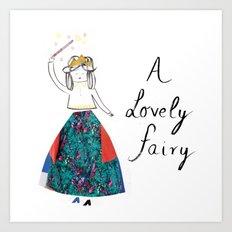 A Lovely Fairy Art Print