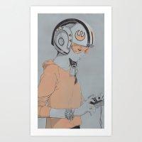 rebel Art Prints featuring Rebel by Señor Salme