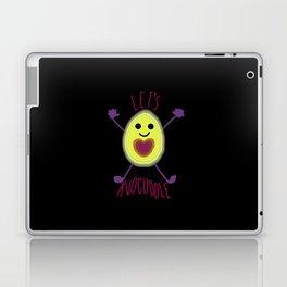 Let's Avocuddle AVOCADO - dark bg Laptop & iPad Skin