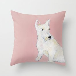 """""""Who's There?"""" Throw Pillow"""