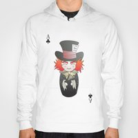 mad hatter Hoodies featuring Kokeshi Mad Hatter by Pendientera