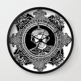 Qing dynasty inspired mandala Wall Clock