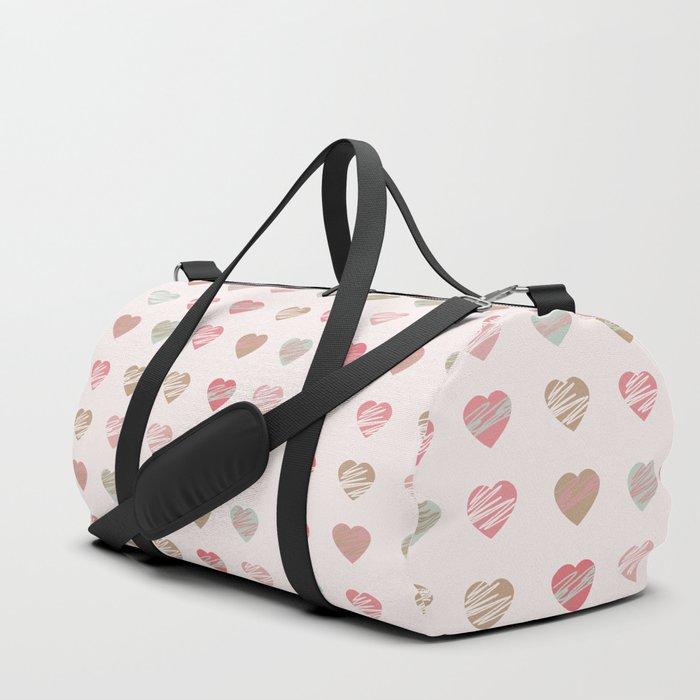 AFE Pastel Hearts Pattern Duffle Bag
