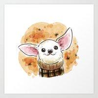 chihuahua Art Prints featuring Chihuahua by Renee Kurilla