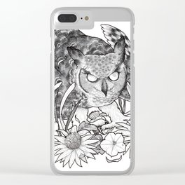 Nightblooms Clear iPhone Case