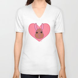 Wanna Give A Whole Llama Love Unisex V-Neck