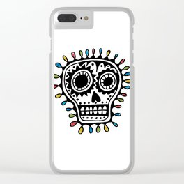 Sugar Skull - sharpie Clear iPhone Case