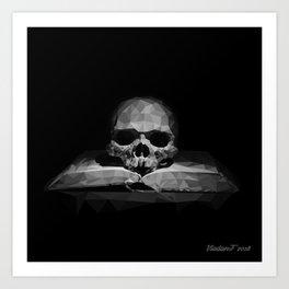 Memento mori - 50 shades Art Print