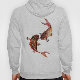 Two Koi, Feng Shui Art Koi Fish Hoody