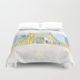 Roberto Clemente Bridge Duvet Cover