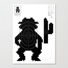Retro Video Game Shooting Target - Western Man Canvas Print