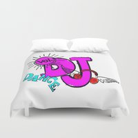 dj Duvet Covers featuring DJ by Christa Bethune Smith