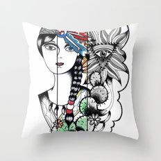 Cactus Eye Pop Style Throw Pillow