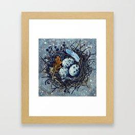 Blue Nest Framed Art Print