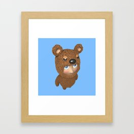 Furry baby Framed Art Print