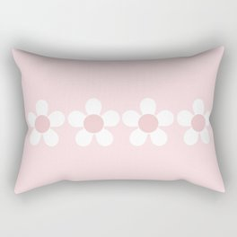 Spring Daisies In Pale Delicate Fresh Pink & White Rectangular Pillow