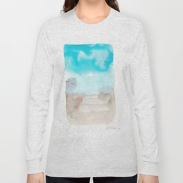 180815 Watercolor Rothko Inspired 4   Colorful Abstract   Modern Watercolor Art Long Sleeve T-shirt