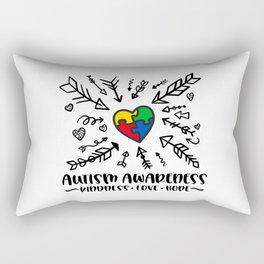 Autism, autism awareness, rainbow puzzle Rectangular Pillow