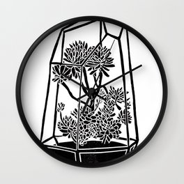 Terrarium Block Print Wall Clock