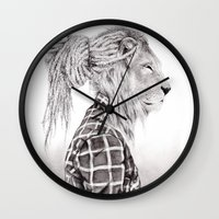reggae Wall Clocks featuring Reggae Lion by SABIN.M