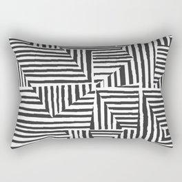 Optical Illusion Sketch Rectangular Pillow