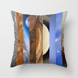 Nine Planets Throw Pillow