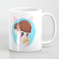 shinee Mugs featuring SHINee cat by sophillustration