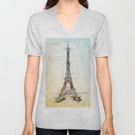 Eiffel Tower, Paris France Unisex V-Neck