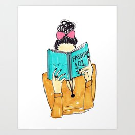 Fashion Print, Fashion 101, Fashion Illustration Print, Pinales Illustrated Art Print