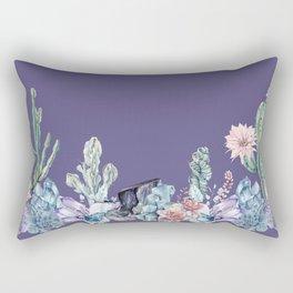 Desert Gemstone Oasis Purple Rectangular Pillow